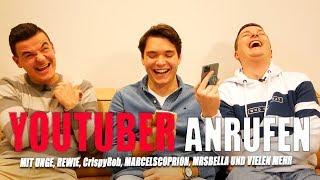 YouTuber SINGEND anrufen mit Hey Aaron -  Unge, CrispyRob, Jans Mutter, Rewi, MarcelScorpion & mehr!