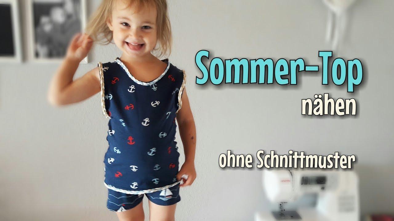 Ruckzuck Sommer-Top - Nähanleitung - OHNE Schnittmuster - Anfänger ...