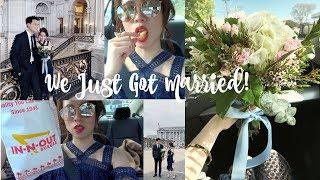 VLOG #2 | WE JUST GOT MARRIED!(4 years Long Distance Relationship)遠距離四年後我們終於登記結婚了!(影片包含自製捧花及在倫敦的求婚)