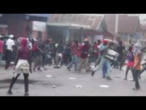 Anti government protest in Haiti, shops looted