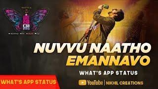 Nuvvu Natho Yemannavo Song What's app Status || DISCO RAJA Movie song