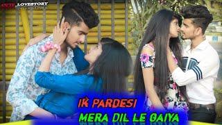 Ek Pardesi Mera Dil Le gya(Remix) ||2021||Cute Love Story || cover by:-akki & rinky