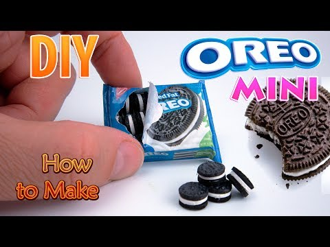 DIY Miniature Oreo Cookies | DollHouse food, accessories and Toys for Barbie | No Polymer Clay!