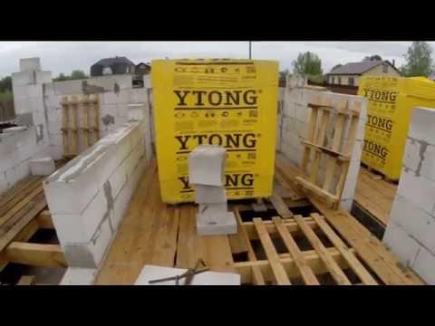 Кладка газосиликатных блоков - YouTube