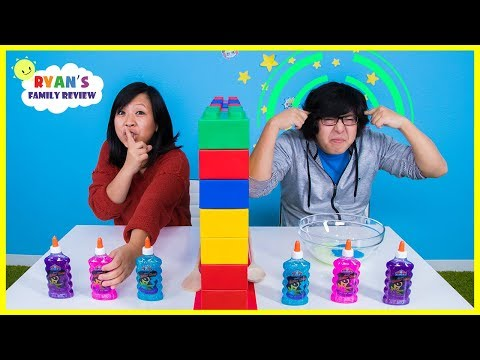 Twin Telepathy Slime Challenge Ryan's Mommy vs Daddy
