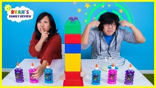 Twin Telepathy Slime Challenge Ryan's Mommy vs Daddy
