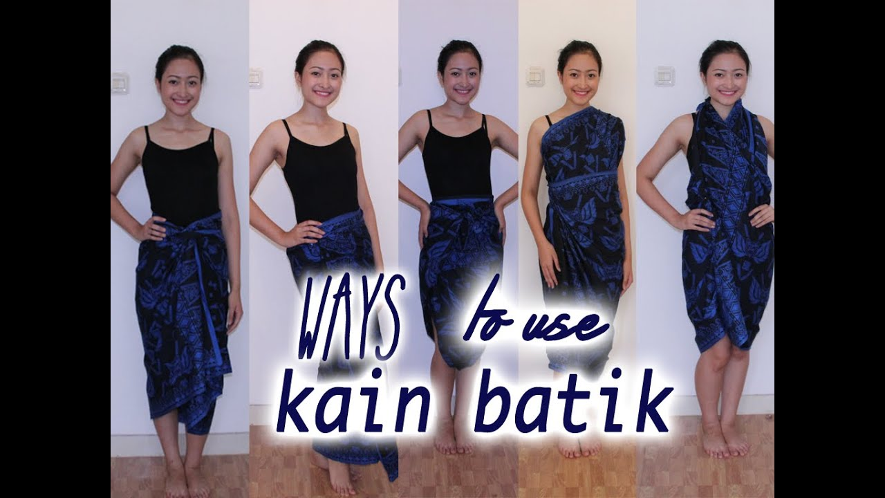 Ways to use kain batik  YouTube