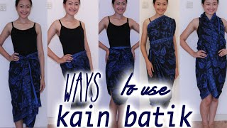 Ways to use kain batik! Thumbnail