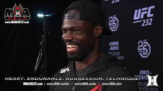 UFC 232: Middleweight Uriah Hall Post-Fight Interview After Defeating Bevon Lewis. (LIVE!)