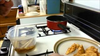 A Little Bachelor Cooking Lesson:  Homemade Chicken Tenders And Fries