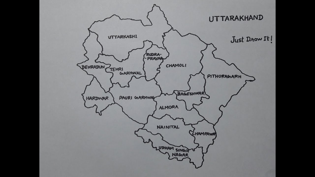 How to draw the map of Uttarakhand