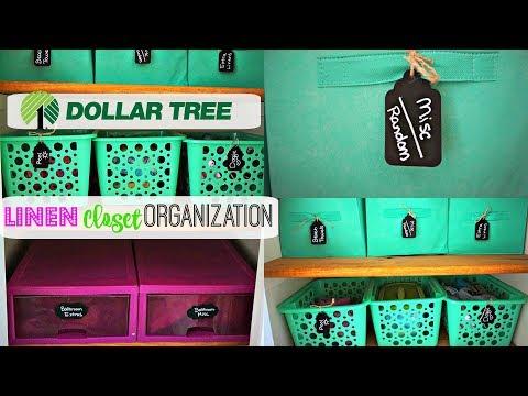 Organizing My Linen Closet| Dollar Tree Organization|Linen Closet Purge\\Keep Calm and Clean