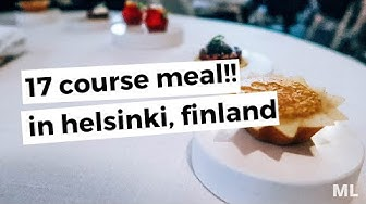 I ATE A 17 COURSE MEAL IN HELSINKI, FINLAND | TRAVEL VLOG