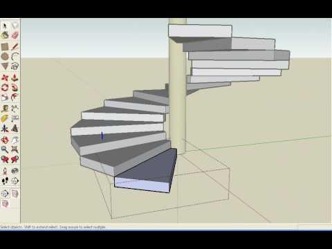 Escada Espiral SketchUp 6 - YouTube