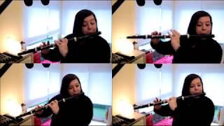 Laura Quesada - Anton Reicha - Quartetto for four flutes. I. Allegro