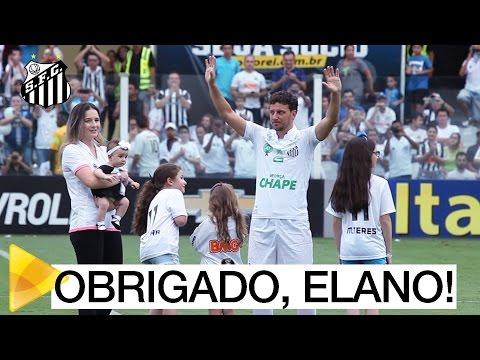 Os últimos momentos de Elano como jogador do Santos FC