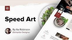 100% Elementor Web Design Speed Art - Plus New Restaurant Template Set