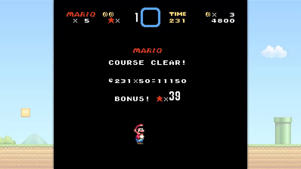 Super Mario World - Level Complete! - Metal Cover