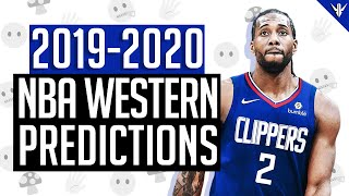 NBA Western Conference 2019-2020 Predictions