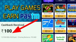 PLAY GAMES EARN FREE PAYTM CASH | BEST EARNING GAME IN 2020 | ₹100 PAYMENT PROOF | QUREKA PRO APP