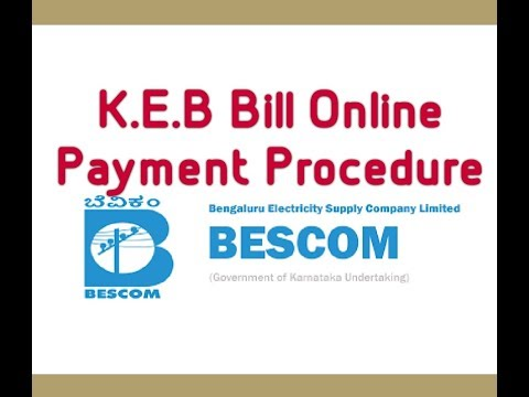 HOW TO PAY BESCOM - K.E.B BILL ONLINE EASY METHOD