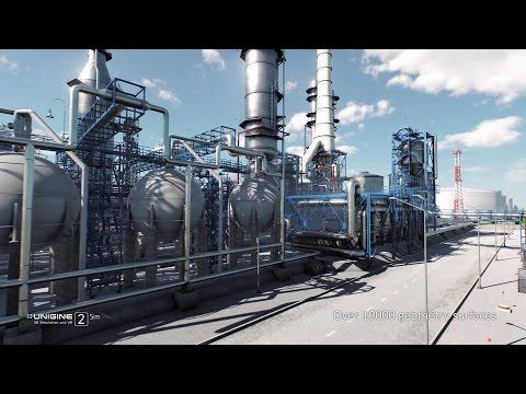 Oil Refinery: Industrial BIM Demo | Powered by UNIGINE 2