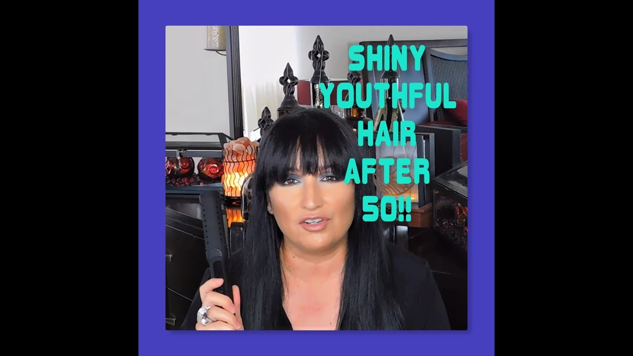 MY SECRET TO SHINY YOUTHFUL HAIR AFTER 50! MATURE BEAUTY/VANITY PLANET
