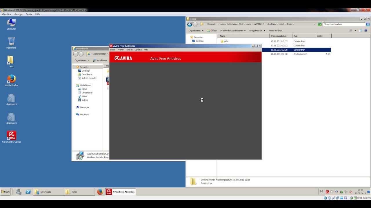antivirus free windows server 2003