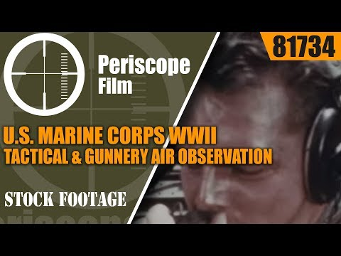 U.S. MARINE CORPS WWII TACTICAL & GUNNERY AIR OBSERVATION  CLOSE AIR SUPPORT 81734