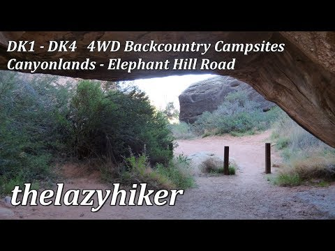 Devil S Kitchen 4wd Backcountry Campsites Dk1 Dk4 Elephant Hill Road Canyonlands Youtube