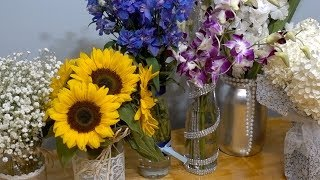 How to turn empty food containers into flower centerpieces