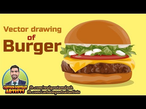 Vector Drawing Of A #Burger! Full Length In Illustrator