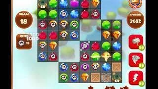 3682 уровень в игре Сокровища Пиратов