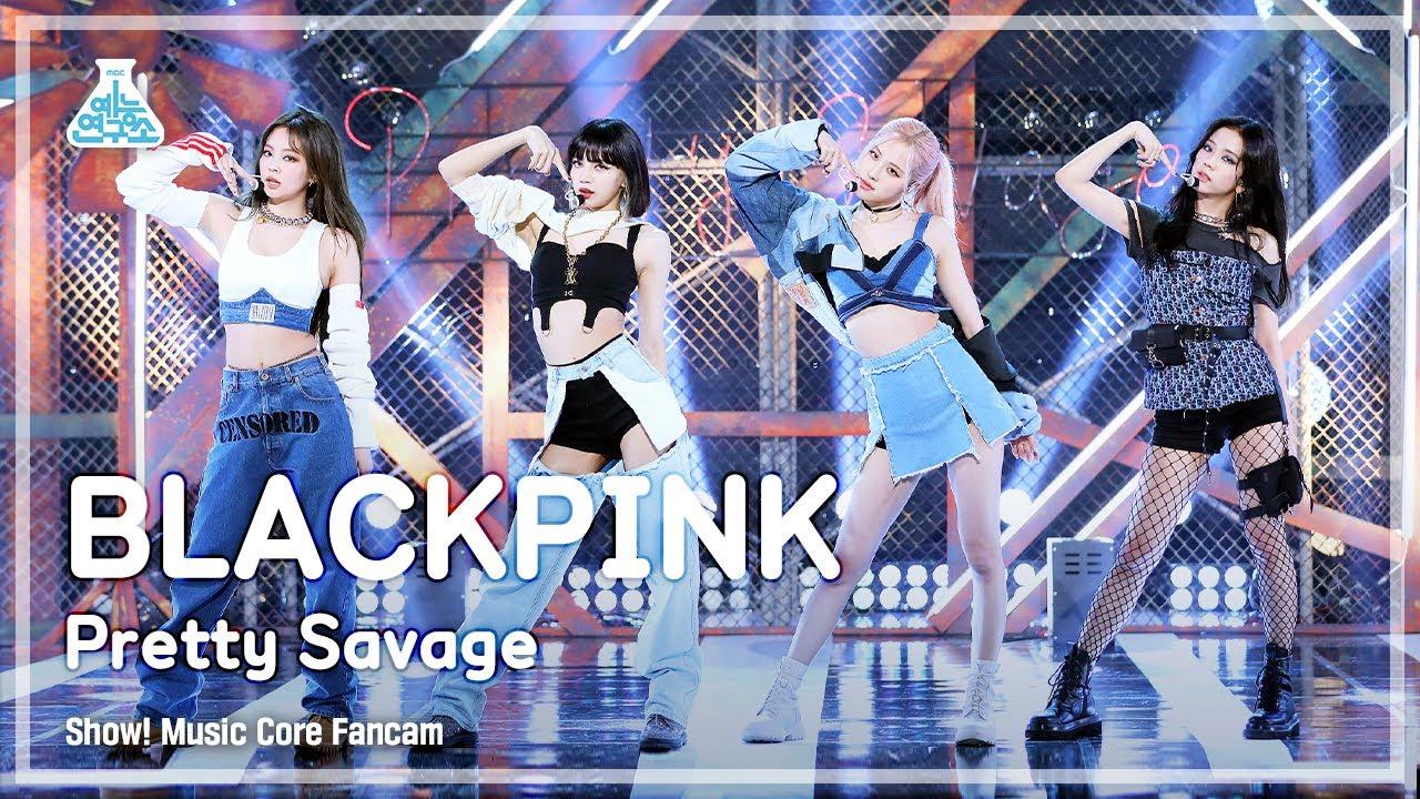 [예능연구소 4K] 블랙핑크 직캠 'Pretty Savage' (BLACKPINK FanCam) @Show!MusicCore 201010