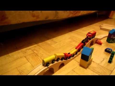 Деревянная железная дорога из икеи