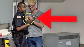 STEALING AN OFFICERS BADGE!!! (COOLEST SECURITY EVER!) - MAGIC PRANK