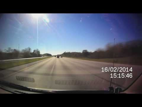[No Sound] ~1h40m drive Orlando to Tampa, Veho Muvi HD NPNG video sped up footage