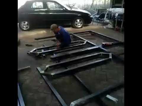 Bengkel las tama jaya    cara pembuatan pintu pagar besi