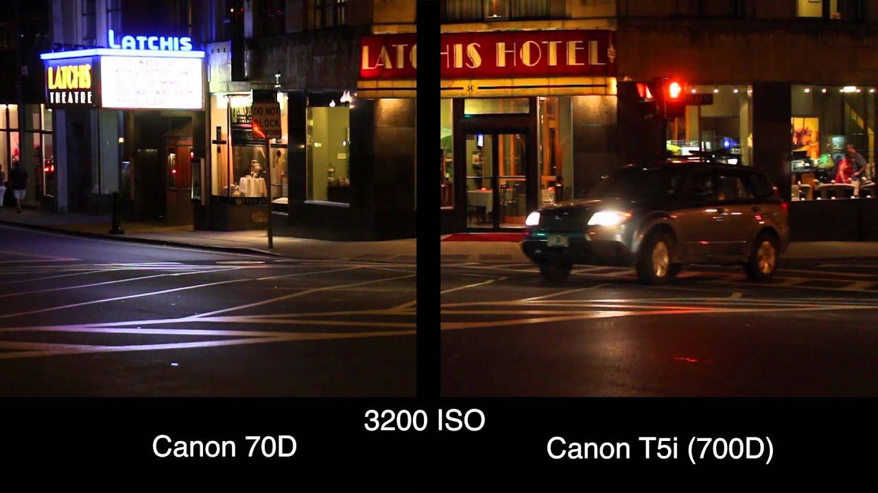 Canon 70D vs 700D - High ISO Video Samples - YouTube