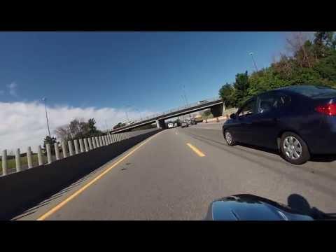 Motorcycle Ride to Work (Ottawa, Ontario)