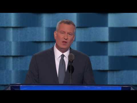 Mayor Bill DeBlasio at DNC 2016