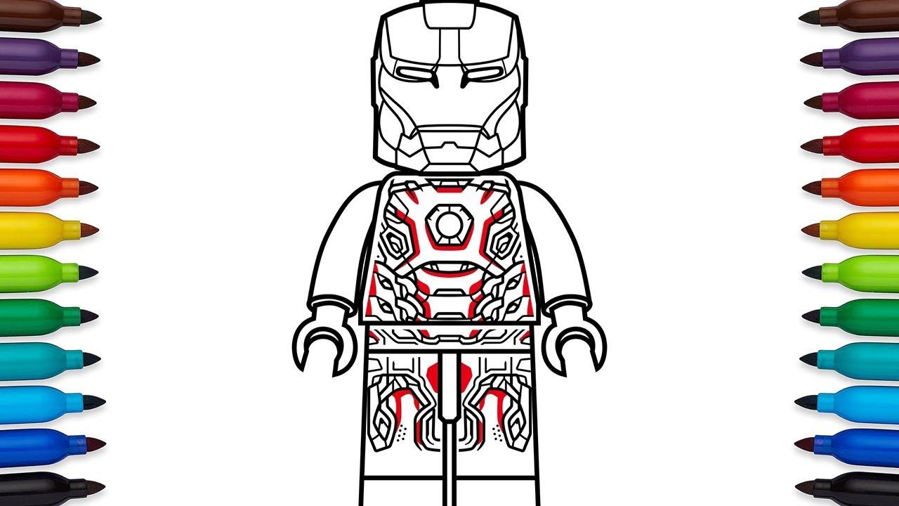 How To Draw Lego Iron Man Mark 45 Mark XLV From Marvels Avengers