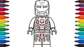 How to draw Lego Iron Man Mark 45 (Mark XLV) from Marvel
