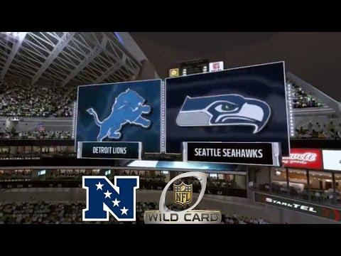 Madden 17: Detroit Lions Vs Seattle Seahawks (2017 NFC Wild Card Match-Up)