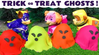 Paw Patrol Mighty Pups Charged Up Ghost Hunt 👻 in this Family Friendly Halloween Toy Story