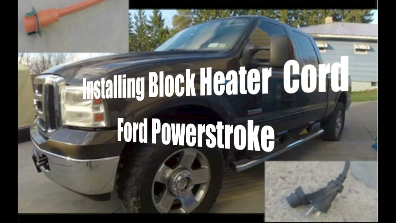 How To Install Block Heater Cord Ford Powerstroke Youtube