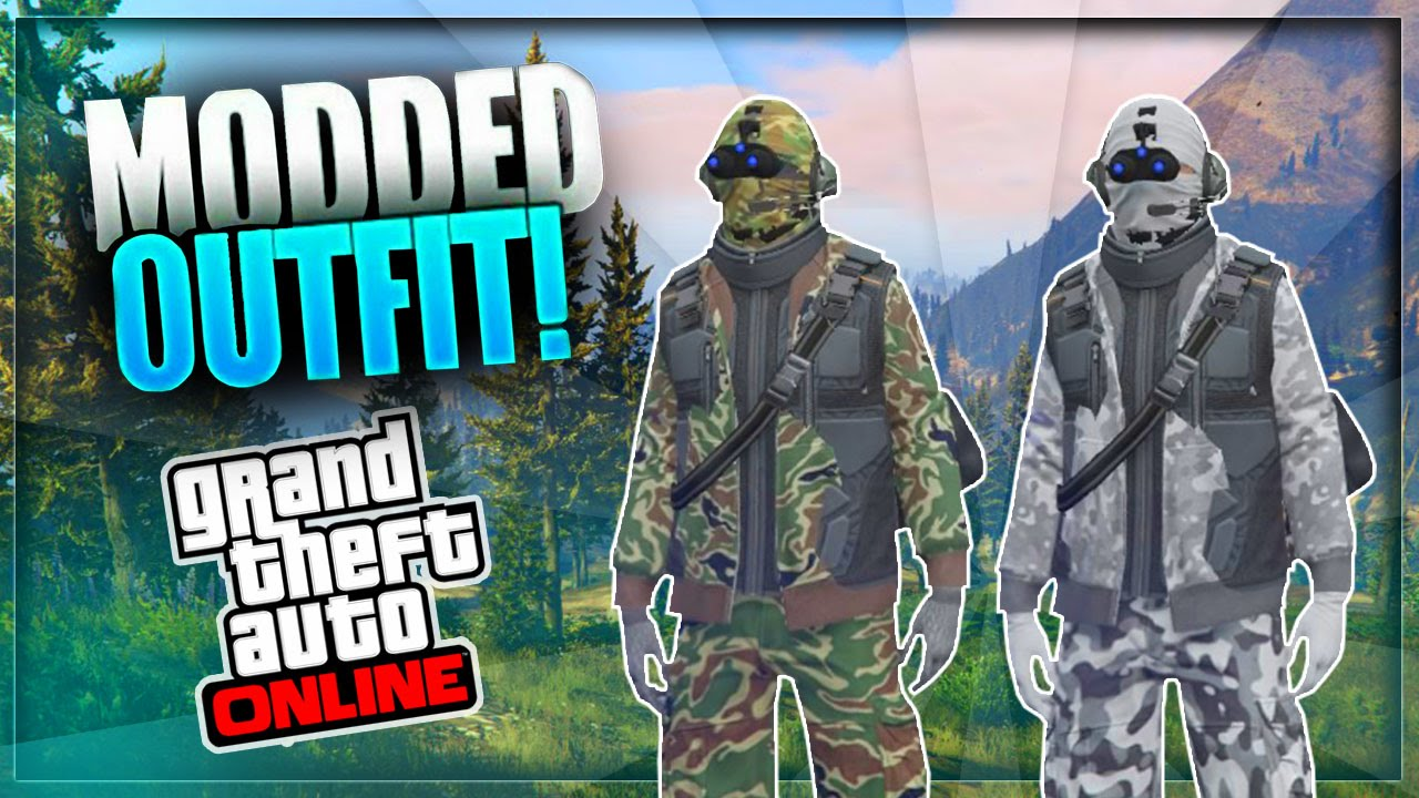 GTA 5 Online - How to Create a MODDED OUTFIT using Clothing Glitches *After Patch 1.33* #10 ...