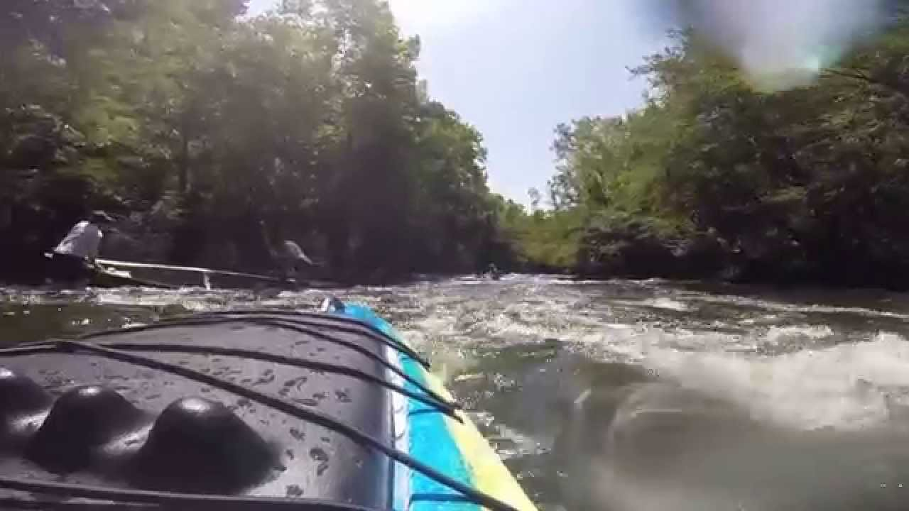 Jackson Coosa running the Chute on the Lower Mountain Fork River