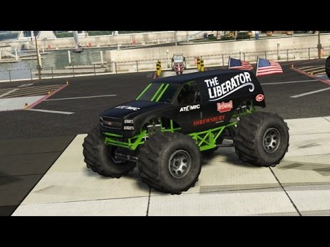 gta 5 rare cars - the liberator (monster truck) location - ps4