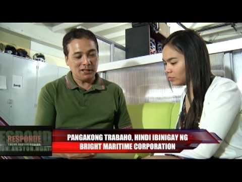 Pangakong trabaho, hindi ibinigay ng Bright Maritime Corporation (July 30 part 2 of 3)
